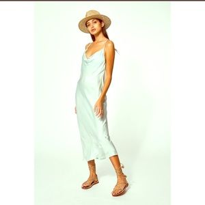 YFB slip dress / sweetie mint color.